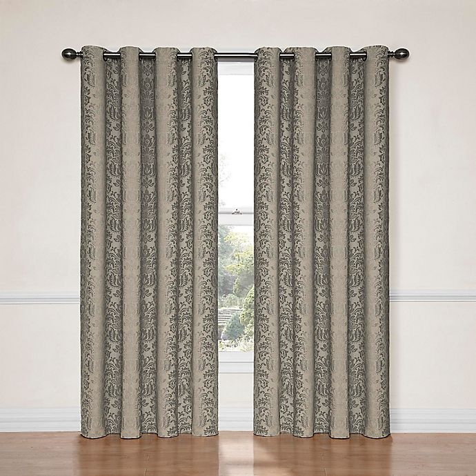 Alternate image 1 for Eclipse Nadya 108-Inch Blackout Window Curtain Panel in Black