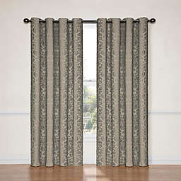 Eclipse Nadya 108-Inch Blackout Window Curtain Panel in Black