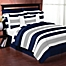 Part of the Sweet Jojo Designs Navy and Grey Stripe Bedding Collection