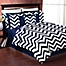 Part of the Sweet Jojo Designs Chevron Bedding Collection in Navy/White