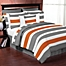 Part of the Sweet Jojo Designs Grey and Orange Stripe Bedding Collection