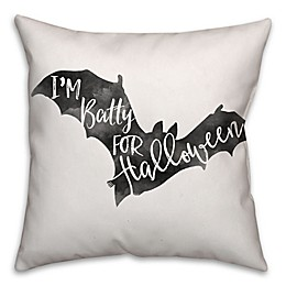 Halloween Watercolor Bat Throw Pillow