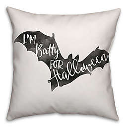 Halloween Watercolor Bat Square Throw Pillow