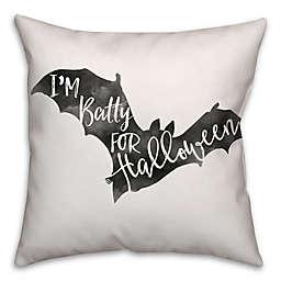 Halloween Watercolor Bat Square Throw Pillow