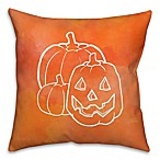 Halloween Watercolor Jack-O-Lantern 16-Inch Throw Pillow