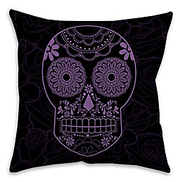 Halloween Candy Skull Throw Pillow