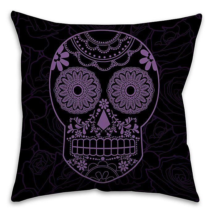 Alternate image 1 for Halloween Candy Skull Throw Pillow
