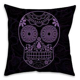 Halloween Candy Skull Throw Pillow
