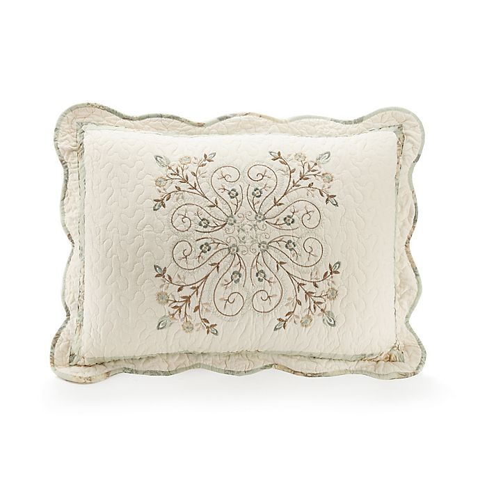 Alternate image 1 for Mary Jane's Home Vintage Treasure Standard Pillow Sham in Teal