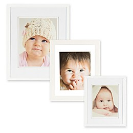 Real Simple® Wood Portrait Frame with Double-Bevel Float Mat in White