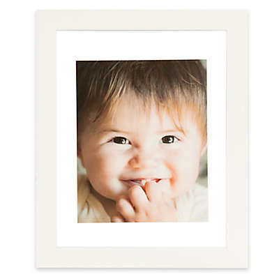 Real Simple® 13-Inch x 16-Inch Wood Portrait Float Frame in White