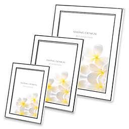 Swing Design™ Lura Picture Frame in White/Silver