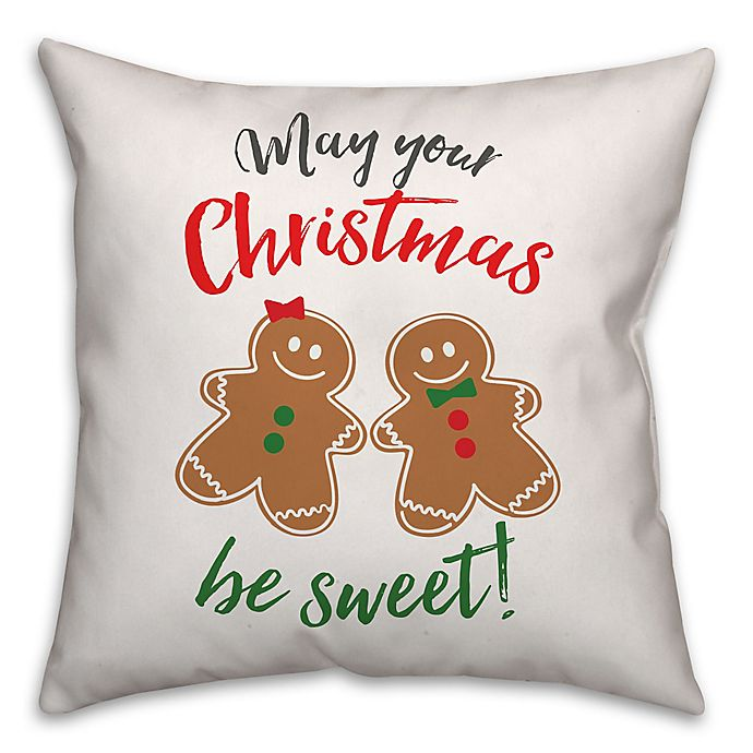 Alternate image 1 for Gingerbread Holiday Pals 18-Inch Square Throw Pillow