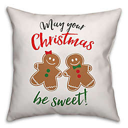 Gingerbread Holiday Pals Square Throw Pillow