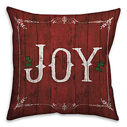 Rustic Joy Square Throw Pillow