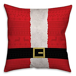 Santa Suit Square Throw Pillow