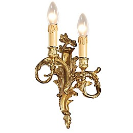 Metropolitan 2-Light Wall Sconce in French Gold