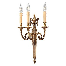 Metropolitan Home 3-Light Wall Sconce in French Gold