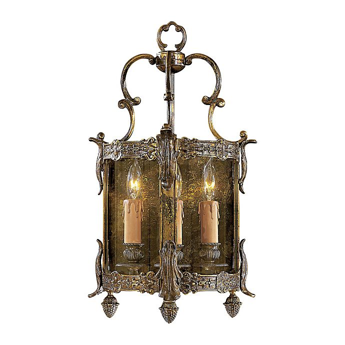 Alternate image 1 for Metropolitan 3-Light Half Bracket Lantern in Bronze