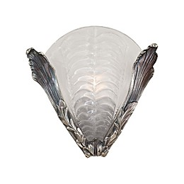 Metropolitan Half Wall Sconce in Platinum with White Glass