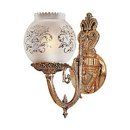 Metropolitan 1-Light Wall Sconce in Brass with Glass Shade