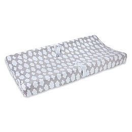 carter's® Cloud Print Velboa Changing Pad Cover in Grey