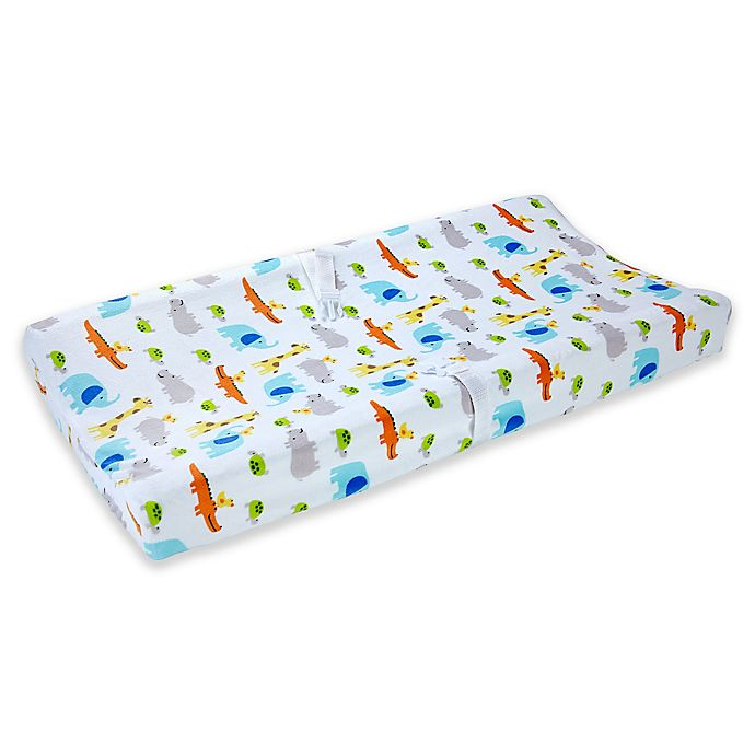 Alternate image 1 for carter's® Safari Print Velboa Changing Pad Cover in Multicolor
