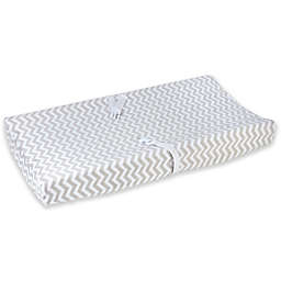 carter's® Chevron Velboa Changing Pad Cover in Grey/White