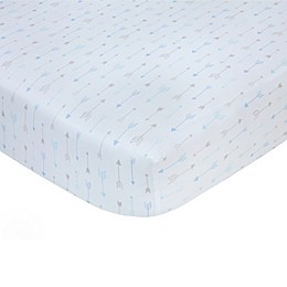 carter's® Arrows Sateen Fitted Crib Sheet in Blue