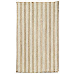 Capel Nags Head Vertical Stripe Area Rug in Tan/White