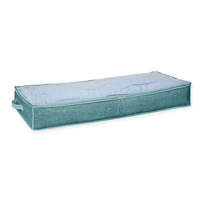 Alternate image 1 for Simplify Non-Woven Under-the-Bed Storage Bag in Blue