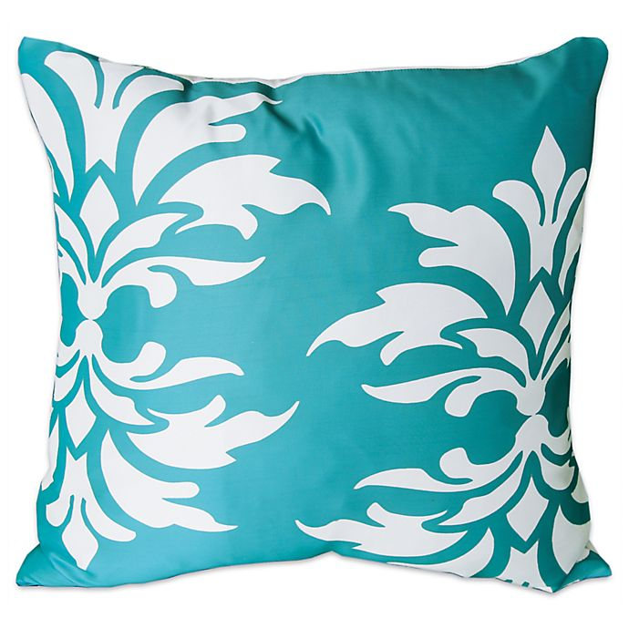 Alternate image 1 for Mina Victory Floral Damask Square Outdoor Pillow