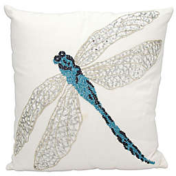 Mina Victory 18-Inch Square Dragonfly Outdoor Pillow