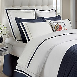 DownTown Company Chelsea Duvet Cover in White/Navy