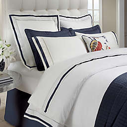 Down Town Company Chelsea Duvet Cover in White/Navy