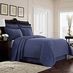 Williamsburg Richmond King Coverlet in Blue