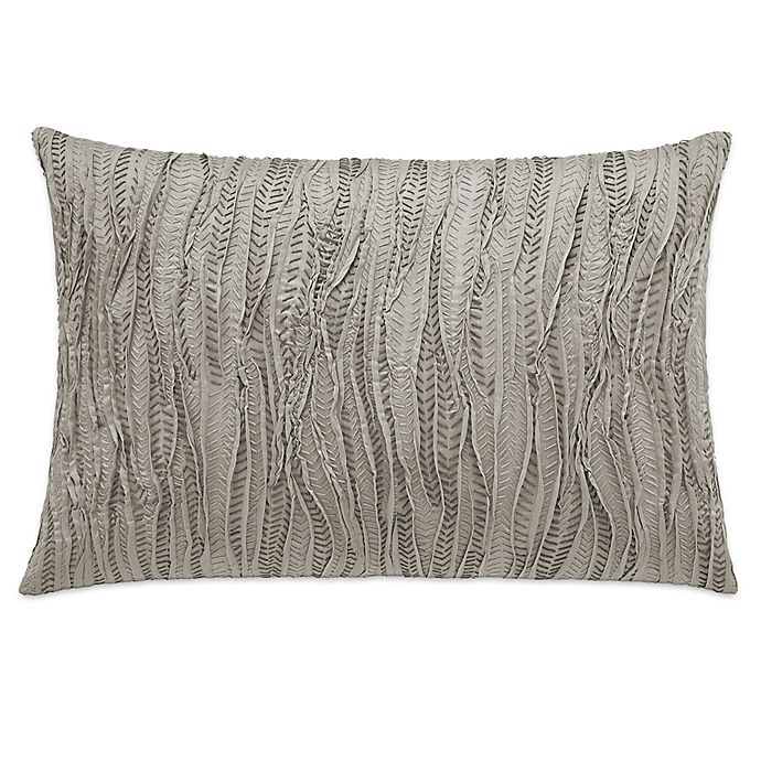 Alternate image 1 for Vera Wang™ Marble Shibori Stitched Oblong Throw Pillow in Beige
