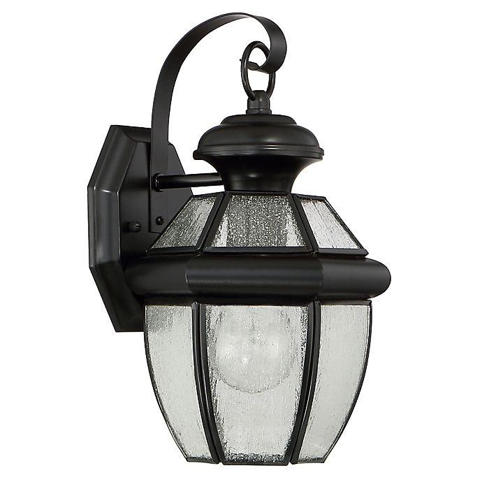 Alternate image 1 for Quoizel Newbury 12-Inch Medium Wall Lantern in Mystic Black