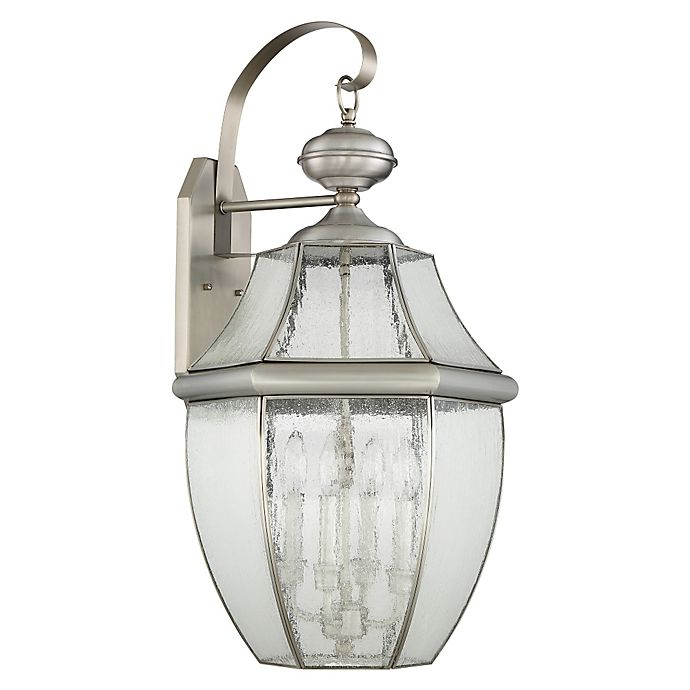 Alternate image 1 for Quoizel Newbury 29-Inch Wall Lantern in Pewter
