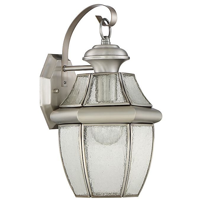 Alternate image 1 for Quoizel Newbury 13.5-Inch Wall Lantern in Pewter