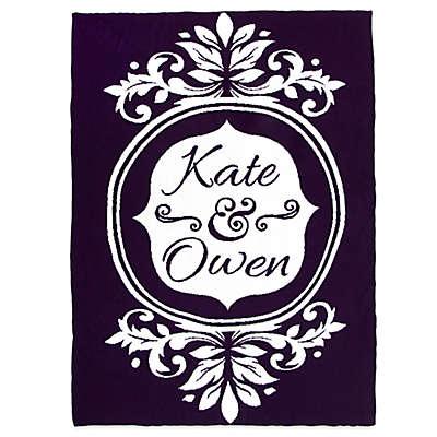 Sleeping Partners Flower Frame Knit Throw Blanket