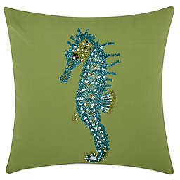 Mina Victory Seahorse 18-Inch Square Outdoor Pillow