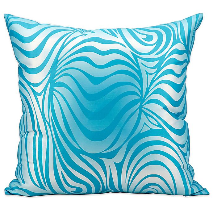 Alternate image 1 for Mina Victory Zebra Indoor/Outdoor Throw Pillow