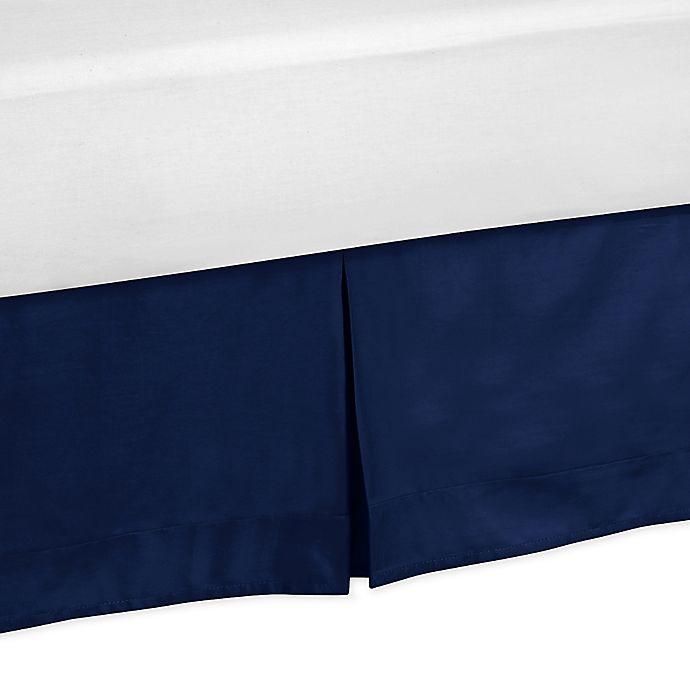 Alternate image 1 for Sweet JoJo Designs Stripe King Bed Skirt in Navy