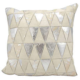 Mina Victory Triangles Leather and Hide Throw Pillow