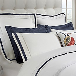 DownTown Company Chelsea Pillow Sham in White/Navy