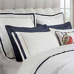 Down Town Company Chelsea Pillow Sham in White/Navy