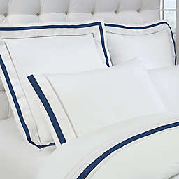 Down Town Company Chelsea 400-Thread-Count Sheet Set in White/Navy