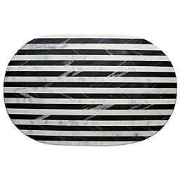 Thirstystone® Striped Marble Platter in Black/White