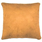 Fontana Square Throw Pillow in Tobacco Brown